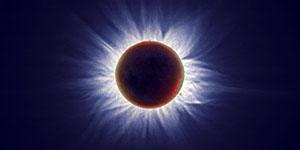Луна и Солнце - затмение